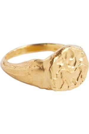 Alighieri Gemini 24kt gold-plated signet ring