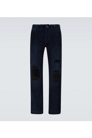 RRL Distressed corduroy pants