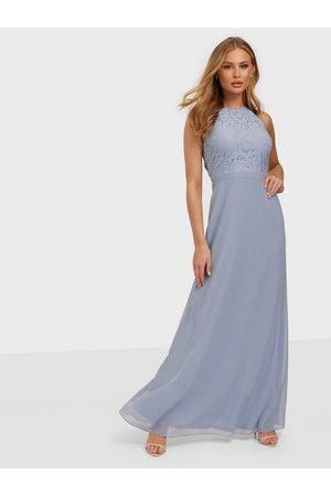 NLY Eve Dame Selskapskjoler - Adorable Sportscut Gown Dusty Blue