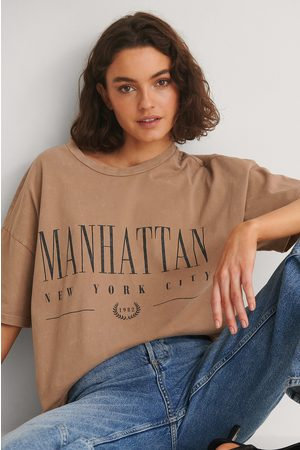 NA-KD Dame Skjorter - Økologisk Manhattan T-skjorte Med Trykk