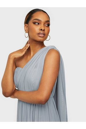 NLY Eve Dame Maxikjoler - Convertible Mesh Gown Dusty Blue