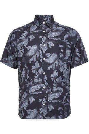 J Lindeberg Seasonal Print Ss Reg Shirt Kortermet Skjorte