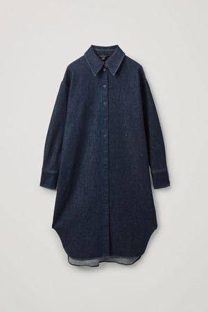 COS OVERSIZED DENIM SHIRT DRESS