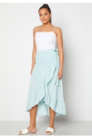 Y.A.S Yvonne HW Long Wrap Skirt Star White Yvonne Pr XS
