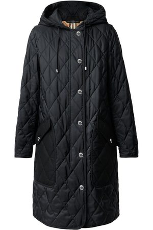 Burberry Dame Kåper - Diamond-quilted mid-length coat