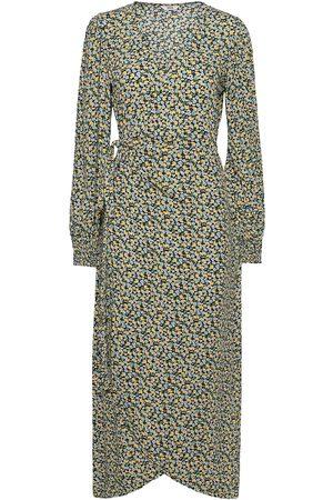 Envii Dame Maxikjoler - Encolombine Dress Aop 6736 Maxikjole Festkjole Grønn