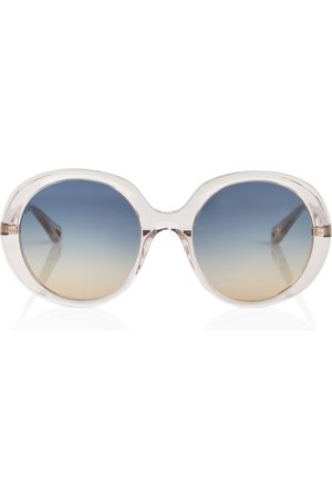 Chloé Dame Solbriller - Round acetate sunglasses