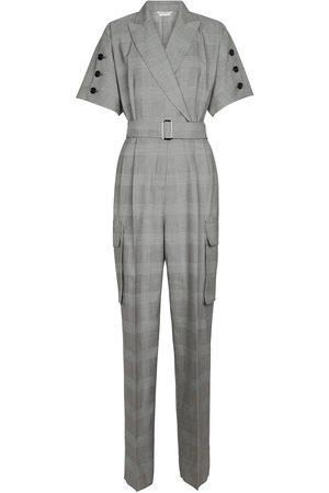 Max Mara Dame Jumpsuits - Bari checked virgin wool jumpsuit