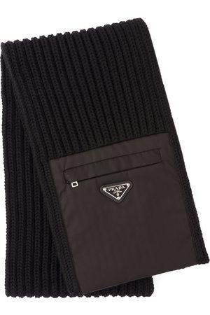 Prada Herre Skjerf - Zipped pocket knitted scarf