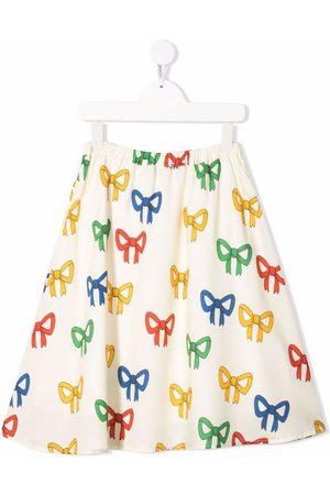 Mini Rodini Jente Mønstrede skjørt - Bow-print skirt