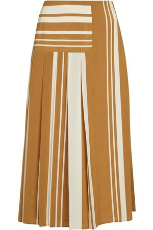 Joseph Swanson striped crêpe midi skirt