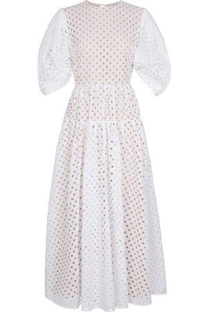 Oscar de la Renta Broderie anglaise cotton maxi dress