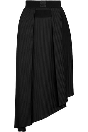 Givenchy Pleated crêpe de chine midi skirt