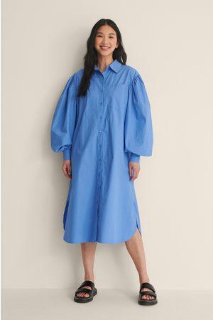 NA-KD Dame Maxikjoler - Økologisk Oversized Skjortekjole