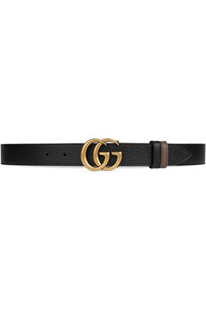 Gucci Herre Belter - Double G buckle thin reversible belt