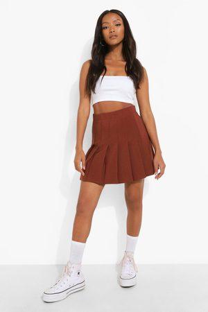 Boohoo Woven Pleated Super Mini Tennis Skirt