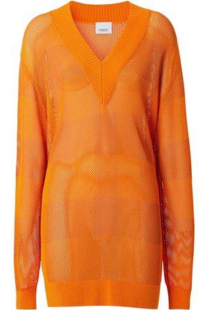 Burberry Dame Strikkegensere - Zoie Knit V Neck Sweater