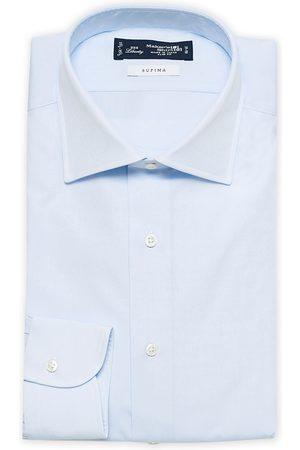 Kamakura Herre Langermede - Slim Fit Broadcloth Cut Away Shirt Light Blue