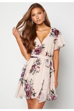 Goddiva Floral Flutter Dress XS (UK8)