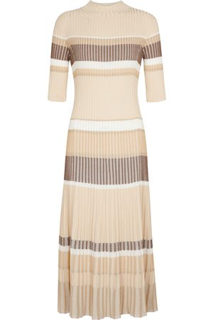 Proenza Schouler Dame Strikkede kjoler - Striped ribbed-knit sweater dress
