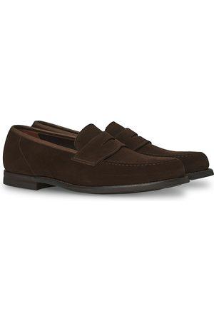 Crockett & Jones Herre Loafers - Harvard City Sole Dark Brown Suede