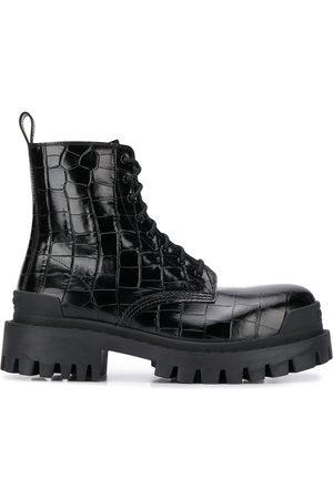 Balenciaga Dame Skoletter - Strike L20 crocodile effect chunky boots