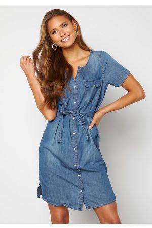 JACQUELINE DE YONG Saint Life S/S Button-Down Dress Medium Blue Denim 38