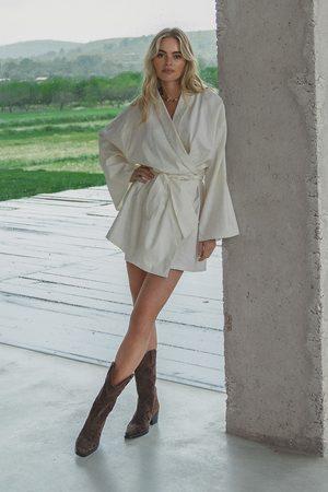 Claire Rose x NA-KD Dame Sommerkjoler - Minikjole I Linblanding