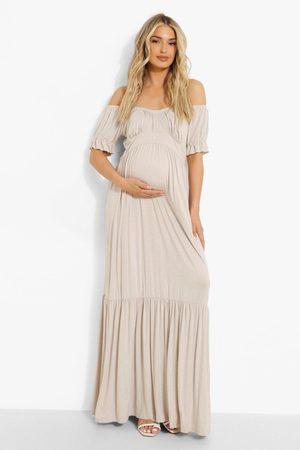 Boohoo Dame Maxikjoler - Maternity Off The Shoulder Maxi Dress
