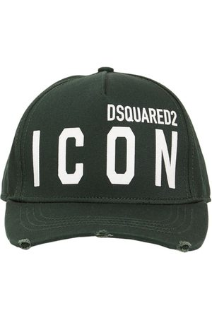 Dsquared2 Herre Capser - Icon Flocked Cotton Gabardine Cap