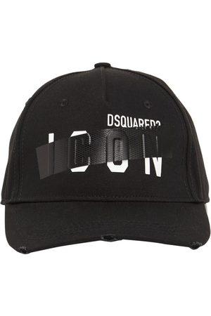 Dsquared2 Icon Taped Cotton Gabardine Cap