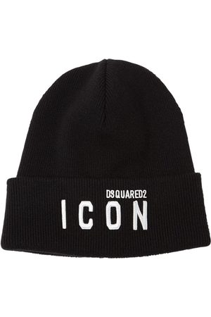 Dsquared2 Icon Patch Wool Knit Beanie