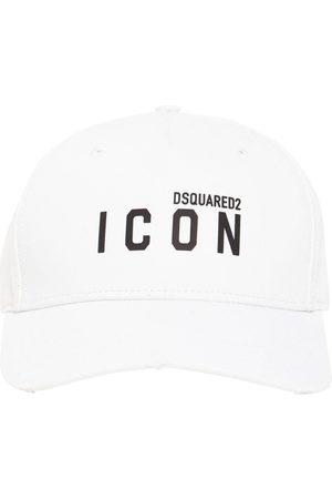 Dsquared2 Herre Capser - Icon Thick Print Cotton Gabardine Cap