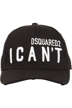 Dsquared2 I Can't Embroidery Cotton Gabardine Cap
