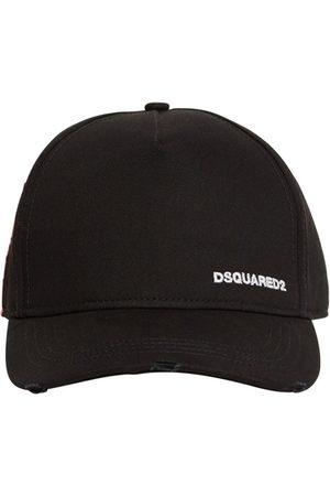 Dsquared2 Small Logo Cotton Gabardine Cap