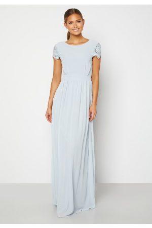Moments New York Dame Selskapskjoler - Camellia Chiffon Gown Blue-grey 38