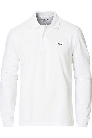 Lacoste Herre Pique - Long Sleeve Polo White