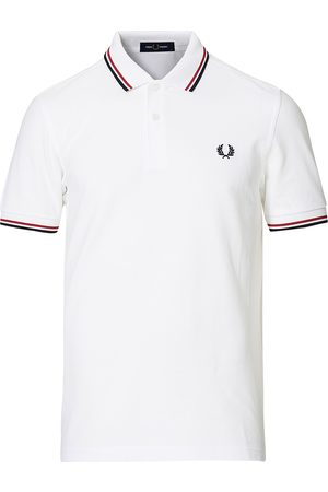 Fred Perry Herre Pique - Twin Tip Polo White