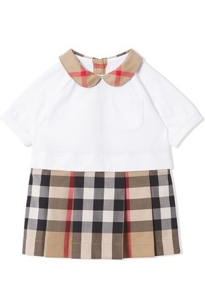 Burberry Kids Kjoler - Short-sleeve check-detail dress