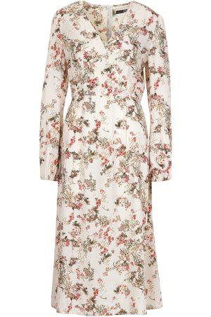 Boohoo Dame Mønstrede kjoler - Tall Floral Print Wrap Midi Dress