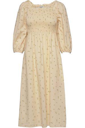 Modström Dame Mønstrede kjoler - Tinne Print Dress Knelang Kjole Creme