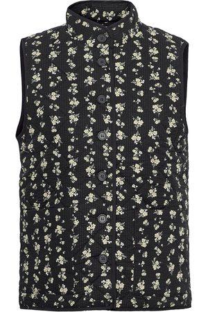Moss Copenhagen Dame Vester - Clarabel Waistcoat Aop Vests Knitted Vests