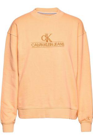 Calvin Klein Dame Sweatshirts - Embroidery Eco Wash Crewneck Sweat-shirt Genser