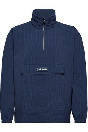 adidas Herre Turjakker - Quarter Zip Windbreaker Outerwear Jackets Anoraks Blå