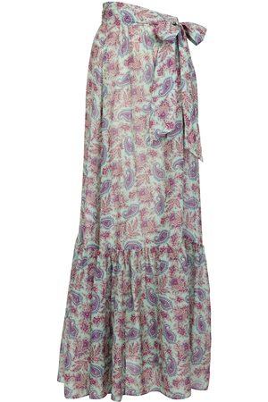 Etro Dame Maxiskjørt - Paisley cotton and silk wrap skirt