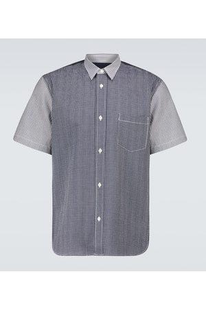 Comme des Garçons Short-sleeved seersucker shirt