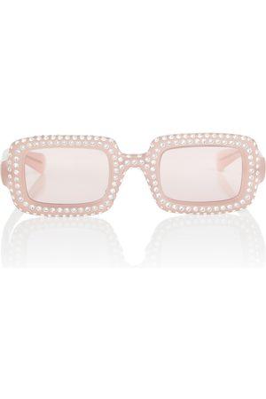 Miu Miu Dame Solbriller - Embellished acetate sunglasses