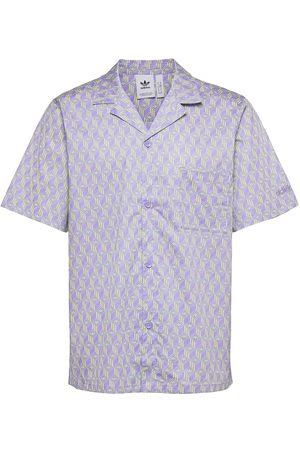 adidas Herre Kortermede - Monogram Polo Shirt Kortermet Skjorte Blå
