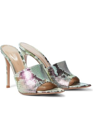 Gianvito Rossi Alise 105 snake-effect leather sandals