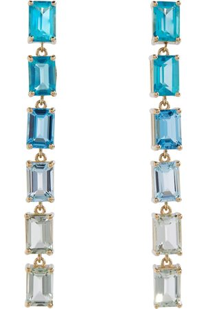 Suzanne Kalan Gemma 14kt yellow gold earrings with topaz